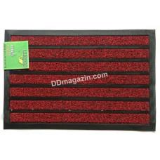 Ковер резиновый Dariana Grass Stripe 45 * 75 см с ворсовым покрытием (красный) 1000007108
