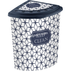 Корзина для белья угловая 53 л Elif Plastic с рисунком, 40*53*55 см (keep clean)
