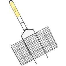 Решетка для гриля, 45*25,5*2,0 см, с деревянной ручкой KM-0714