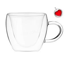 Набор чашек Olens Сердце большое 300 мл, h-9,5 см, с двойными стенками 2 шт