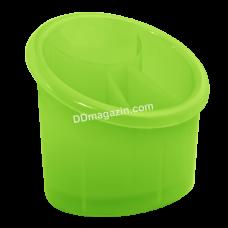 Подставка для столовых приборов (овальная) 15,3*12,5см (оливковый)167094