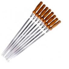 Шампур 3,0*10*550мм с деревянной ручкой