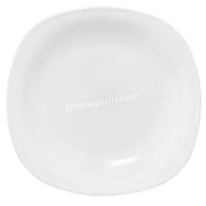 Тарелка S&T Белая 8, склокепамична квадратная (30110-02)