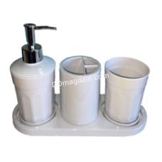 Набор аксессуаров для ванной комнаты MOON (4 предмета), белый