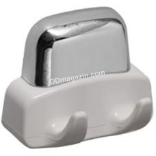 Крючок настенный двойной 0,06*0,115*0,12 см, белый