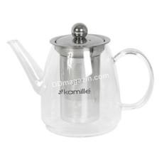 Чайник-заварник Kamille 600 мл со съемным ситечком (стекло, нержавеющая сталь) KM-1603