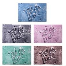 Ковер в ванную комнату АМА Banyolin антискользящий, прямоугольный 40*60 см (синий/коричневый/зеленый/серый/розовый)