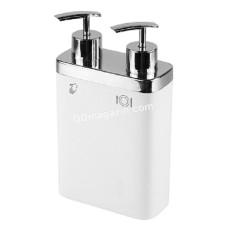 Дозатор для жидкого мыла двойной Prima Nova VIVA 300 + 600 мл, белый