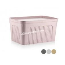 """Корзина для белья 27 л, Dunya plastik """"Unit box"""" (пудра)"""