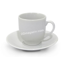 Чашка для кофе 100 мл Interos HoReCa WHITE с блюдцем, фарфор/ УПАК