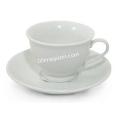 Чашка для капучино 180 мл Interos HoReCa WHITE с блюдцем, фарфор