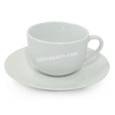 Чашка чайная 220 мл Interos HoReCa WHITE с блюдцем, фарфор/ УПАК