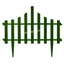 """Ограждение для газона """"Заборчик"""" (4 в 1) (зеленый) 64*1114042"""