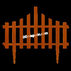 """Ограждение для газона """"Заборчик"""" (4 в 1) (терракот) L-65 см h-55 см"""