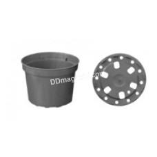 Вазон для рассады круглый 0,37 л, 10*7,5 см, упаковка (55шт) (черный) 119013