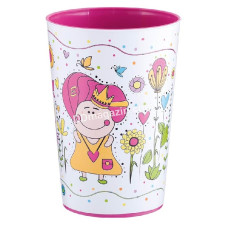 Набор из 5-ти стаканов 0,4 л. с декором Magic (темно-розовый)