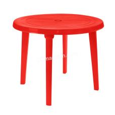 Стол круглый d-90 см (красный) 100011