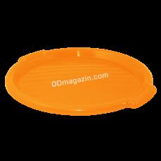 Поднос круглый Алеана d-38,8 см*2,5 см (светло-оранжевый) 167098