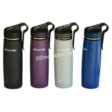 Термос-бутылка 500 мл Kamille из нержавеющей стали, с трубочкой и клипсой KM-2058