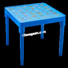"""Стол детский """"Азбука английский"""" 51*51 см, h-47 см (голубой) 100028"""