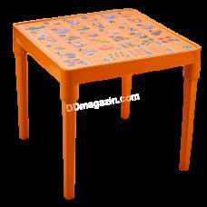 """Стол детский """"Азбука английский"""" 51*51см, h-47 см (светло-оранжевый) 100028"""