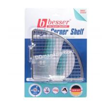 Полочка в ванную комнату Besser угловая, 20*20*8,5 см (хромированная сталь)