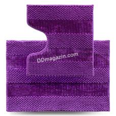 Набор ковров в ванную комнату Dariana Матрас 55*80 + 55*50 см (2шт.) (Фиолетовый) 1000006417