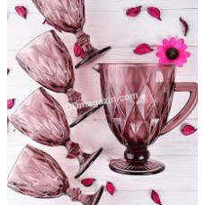 """Набор """"Изумруд"""" (6 бокалов + кувшин), розовый JC37097LB purple"""