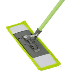 Швабра - полотёр покрытия, микрофибра, Dreamland, рукоятка 110 см (зеленая)