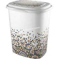 Корзина для белья 45 л, Elif Plastic с рисунком, 38*45*53 см (мозаика)
