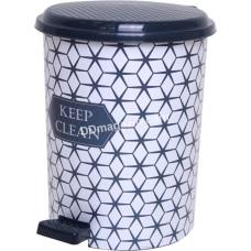 Мусорное ведро 10 л. с педалью Elif Plastic (keep clean)