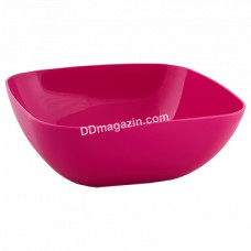 Тарелка глубокая 15*5,5см (темно-розовый)167061