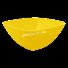Салатница глубокая 18*18*7.5 см (темно-желтый) 168002