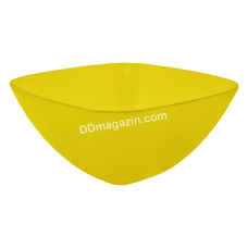 Салатница глубокая 24*24*9.5 см (желтый прозрачный) 168003