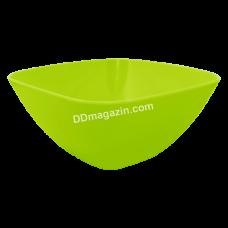 Салатница глубокая 24*24*9.5 см (оливковый)168003