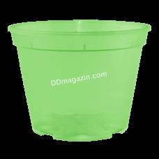 Вазон дренажный 12*9 см, 0,68 л (салатовый прозрачный) 114075
