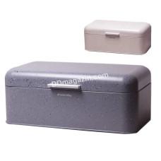 Хлебница Kamille 42*23,5*16,5 см (нержавейка, темно-серый мрамор, бежевый мрамор) KM-1108