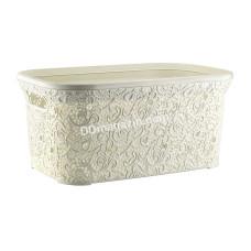 "Корзина для белья 47 л, Elif Plastic ""Ажур"", 35 * 54 * 25 см (пудра)"