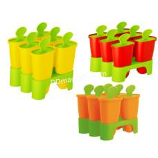 Формы для мороженого с подставкой (цвет микс) 168030