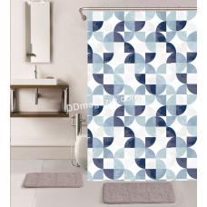 Штора для ванной комнаты и душа, с кольцами с Peva материала, Dariana, XRQ-RP-649, 180 * 180см