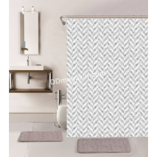 Штора для ванной комнаты и душа, с кольцами с Peva материала, Dariana, XRQ-RP-554, 180 * 180см