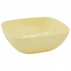 Тарелка глубокая 15*5,5см (желтый)167061