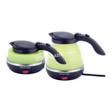 Чайник электрический Kamille силиконовый 0,5 л., Зеленый с черным KM-1723