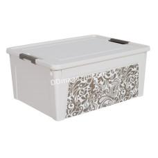 """Контейнер универсальный """"Smart Box"""" с декором 7,9 л. Home 32,3*24,5*14 см (_била роза / какао) 124056"""