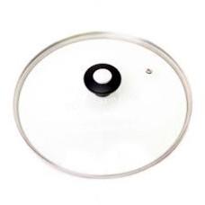 Крышка стеклянная Kamille Ø24 см с металлическим ободком (универсальная) KM-0814