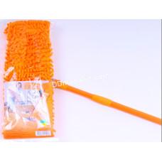 Швабра - полотёр покрытия 44*10 см, лапша, Eco Fabric, пластиковая основа, телескопическая рукоятка