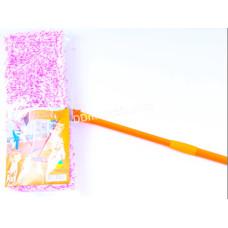 Швабра - полотёр покрытия 42*10 см, микрофибра, Eco Fabric, пластиковая основа, телескоп. рукоятка
