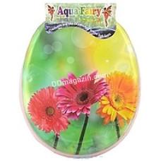 Сиденье на унитаз мягкое Aqua Fairy (цвет микс)