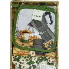 Кухонный набор ТМ Обитель Завтрак 3шт, хлопок-полиэстер