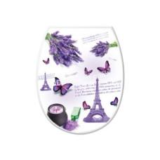 Сиденье на унитаз пластик Elif Plastic с рисунком (париж)